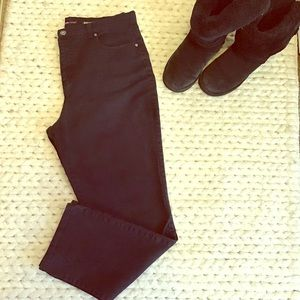 Style and Co. black straight leg jeans.